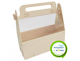 Pack bi-matière avec calage/découpe pour les huîtres + baguette maintien du produit