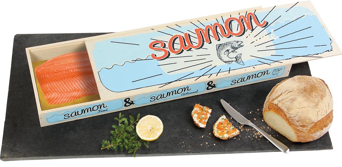 coffret saumon fumé