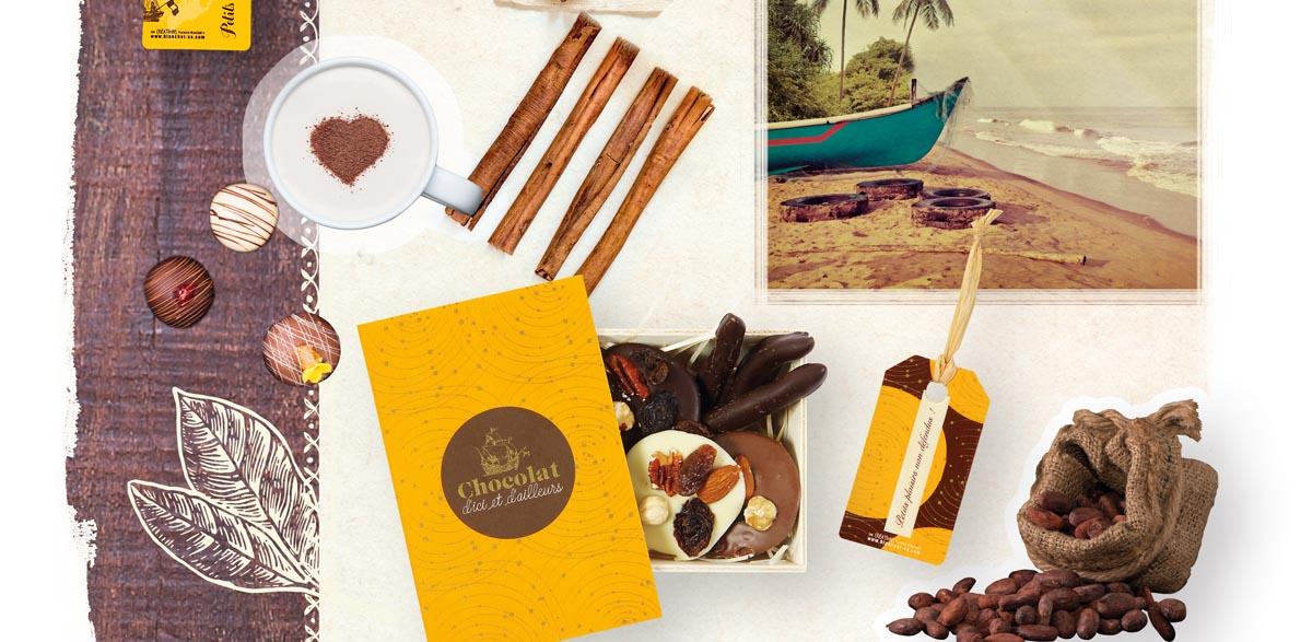 emballage bois chocolat