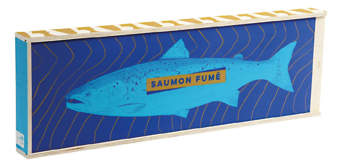 coffret en bois pour saumon fumé