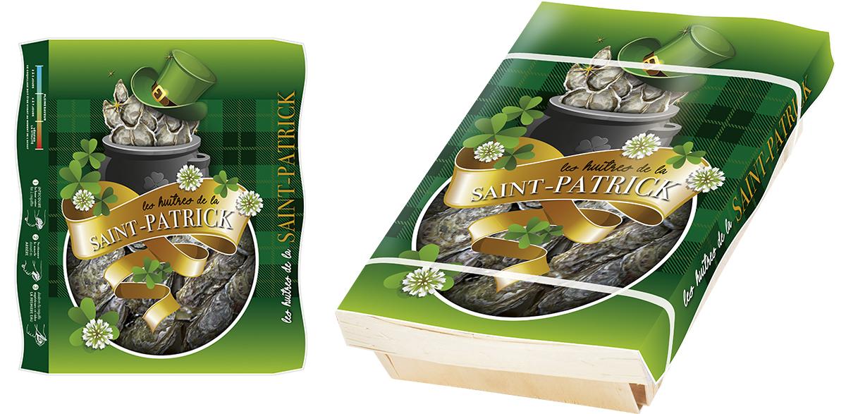 couvercle pour panier bois Saint-Patrick