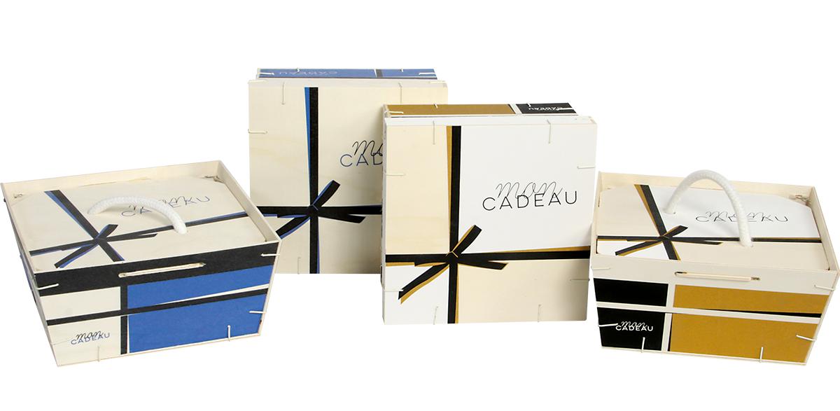 une gamme de boîte cadeau en bois