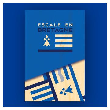 carte postale en bois Bretagne