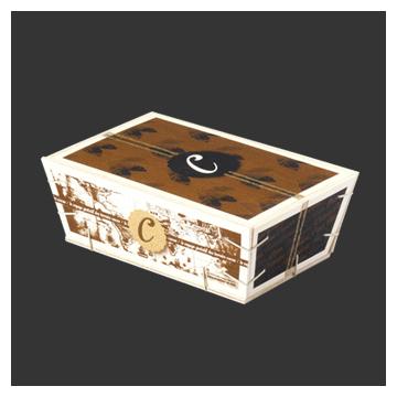 boîte en bois couvercle rentrant
