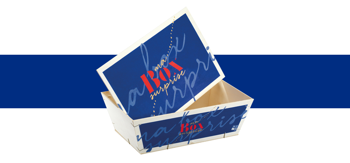Barquette box surprise en bois