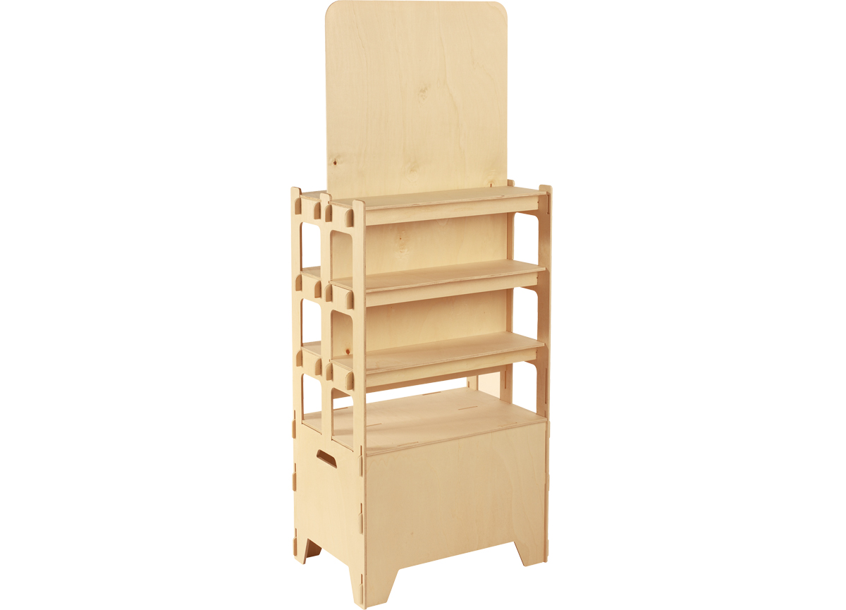 grand présentoir en bois Blanchet