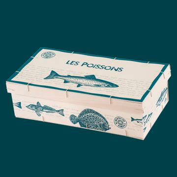 Boîte en bois avec couvercle style boîte à chaussures